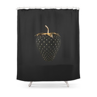 Society6 Strawberry Love Shower Curtain