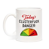 Today's Clusterfuck Danger Mug with Meter Design