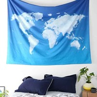 4040 Locust Cloud Map Tapestry- Sky One