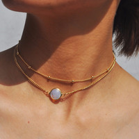 Opal & Gold Double Layered Necklace