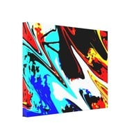 Wrapped Canvas Fine Art Colorful Abstract Modern