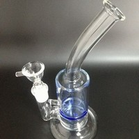 Glass smoking pipe with 1 turbine perc 8.5 inches high for  GB-215