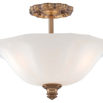 Soho 3-Light Semi-Flush, Cheshire Gold, Semi Flush Mounts