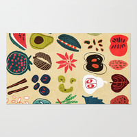 Fruit and Spice Rack Rug by Budi Satria Kwan