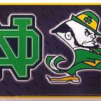 Notre Dame Irish ND Leprechaun Car Tag Automobile License Plate NCAA New