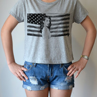 Lana Del Rey Elizabeth Woolridge Grant - women's Crop Top t shirt - hip hop R&B pop music indie - sexy summer ( M - L )