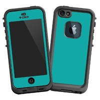 "Turquoise ""Protective Decal Skin"" for LifeProof fre iPhone 5/5s Case"