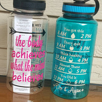 34 oz Motivational Water Bottles