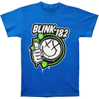 Blink 182 Men's  Thumbs Up T-shirt Blue