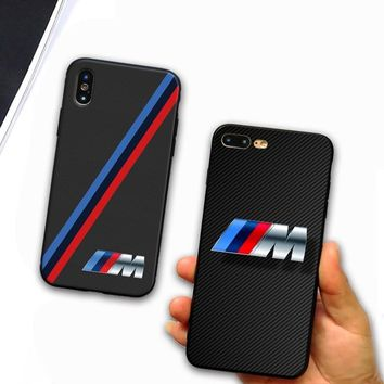 For iphone 7 case luxurious Slim BMW Soft silicone Cover Case For Apple iphone 5 SE 6 6S 7 8 Plus X S R Max Mobile Phone Cases