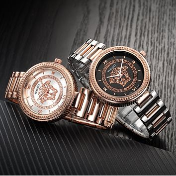 Versace Woman Men Fashion Quartz Movement Watch
