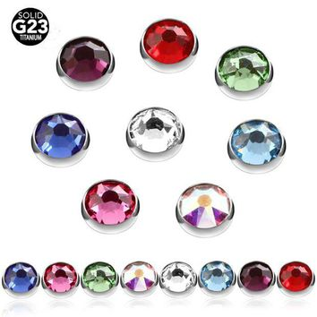 ac DCCKO2Q 10pcs 100% Titanium Gem Micro Skin Diver Dermal Anchor Highly Polished Hide In Surface Attchments Mamilo Pircing Body Jewelry