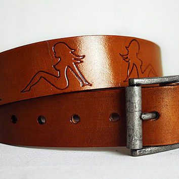 Custom Genuine Leather Name Belt / Personalized / Custom Leather Belt / Custom Fathers Day Gift