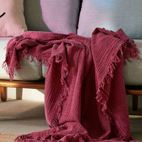 Maria Crinkle Throw Blanket - Urban Outfitters