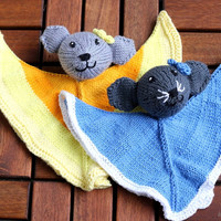 Mouse Lovey knitting pattern PDF, baby toy diy gift and decoration, gift for kids and adults, baby shower
