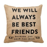 Burlap Best Friends Forever Funny