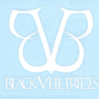 Black Veil Brides Vinyl Cut Sticker White Logo