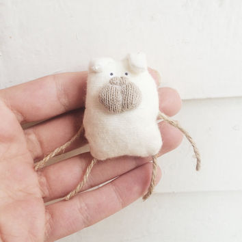 Miniature pug doll brooch new collection