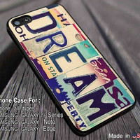 Dream License Plate iPhone 6s 6 6s+ 5c 5s Cases Samsung Galaxy s5 s6 Edge+ NOTE 5 4 3 #movie #supernatural dl5