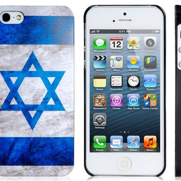 israel Flag Plastic Case for iPhone 5S/S