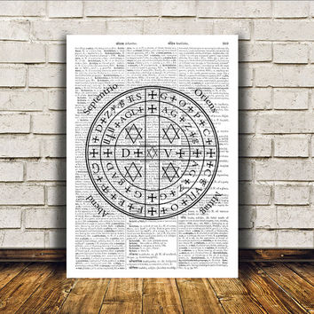 Alchemy print Occult poster Modern decor Witch art RTA372