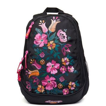 School Backpack GRIZZLY Floral Pattern Kid School Bags Children Orthopedic Backpacks for Girls Waterproof Primary School Book Bags for Grade 1-4 AT_48_3