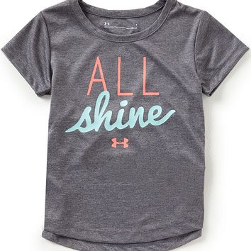 Under Armour Little Girls 2T-6X Short-Sleeve All Shine Tee | Dillards