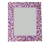 Purple Mosaic Wall Mirror