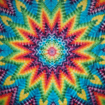 Giant Dreamcatcher Mandala Rainbow Tie Dye Tapestry!
