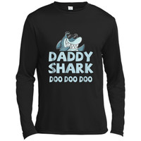 """Daddy Shark"" Baby Mommy Daddy Matching Family Shark  Long Sleeve Moisture Absorbing Shirt"