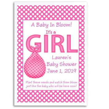 8 Its A Girl Baby Shower Seed Favors