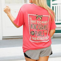 Too Many Monograms & Pearls Tee | Jadelynn Brooke