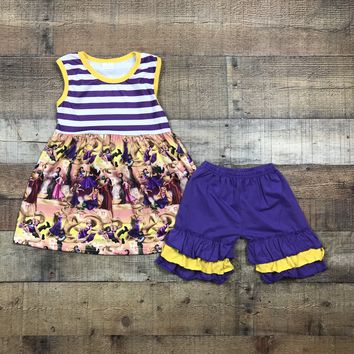 Boy Girl Character 2pc Ruffle Short Outfit RTS