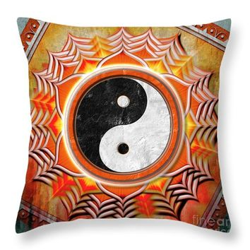 Yin Yang - The Healing Of The Orange Chakra Throw Pillow