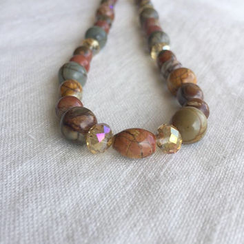 Jasper Necklace - Jasper Jewelry - Holiday Gifts for Her- Gifts for Women - Gemstone Necklace - Beaded Necklace - Jewelry Gifts for Women