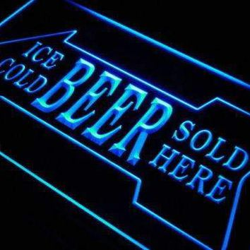 Ice Cold Beer Sold Here LED Neon Light Sign