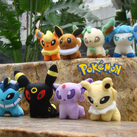 Pokemon Plush Toy Set Of 8 Eevee Stuffed Animal Nintendo Game Soft Doll