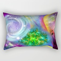 Rainbow space Rectangular Pillow by Haroulita | Society6