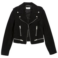 Black suede jacket SAINT LAURENT Black