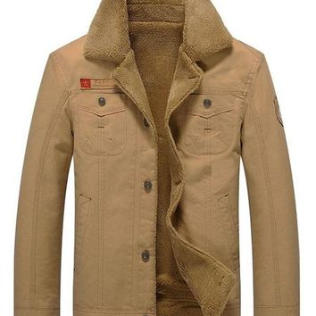 Mens Faux Shearling Jacket In The Style Of Brokeback Mountain - 3 Colors