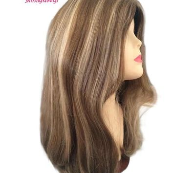 Customized made color 10/8/6 kosher wig ,jewish wigs finest european hair wigs free shipping