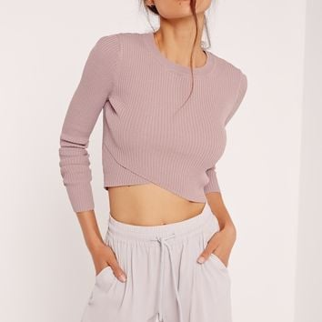 Missguided - Wrap Front Jumper Lilac