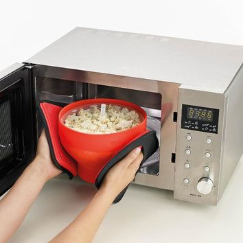 Microwaveable Popcorn Maker Pop Corn Bowl With Lid