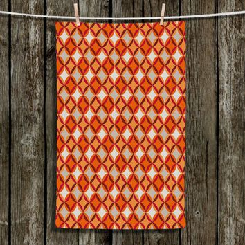 Kitchen Towels By Julia Grifol Circles Red