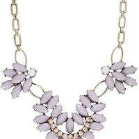 Bar III Gold-Tone Stone and Crystal Leaf Frontal Necklace