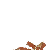 Best of the Twist Tan Ankle Strap Sandals