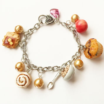 Breakfast Treats Charm Bracelet