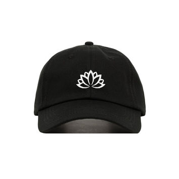Lotus Flower Embroidered Baseball Cap