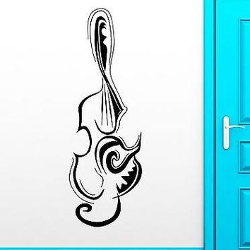 Wall Sticker Vinyl Decal Musical Instrument Music Violin Abstract Decor Unique Gift (ig1800)