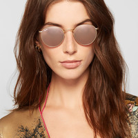 Ray-Ban - Round-frame gold-tone mirrored sunglasses